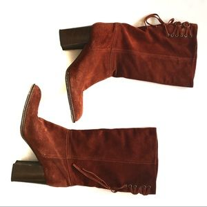 COACH Coty Suede Mid Calf Boots
